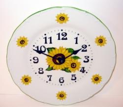 Nástěnné hodiny talířové slunečnice