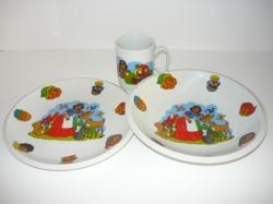Dětská třídílná jídelní porcelánová sada Sněhurka