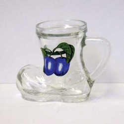 Sklenička Botička 30ml dekor hrozno modré