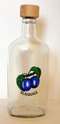 Láhev Gin 700ml dekor švestka