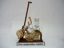 Dárková sada RYBÁŘSKÝ PRUT MPlacka 100ml + 1x botička 30ml dekor