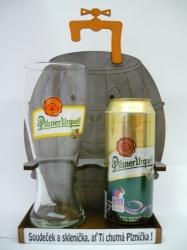 Dárková sada PIVNÍ SUD s plechovkou piva Plzeň 12% 0,5l + korbel