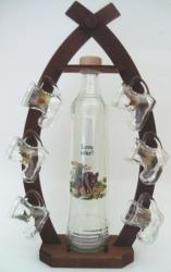 Dárková sada VRTULE Vodka 700ml + 6x botička 30ml dekor švestka