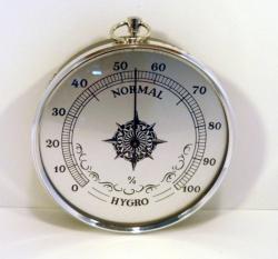 VLHKOMĚR pokojový - stříbrný - průměr 100mm