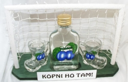 Dárková sada FOTBALOVÁ BRANKA MPlacka 100ml + 2x botička 30ml -