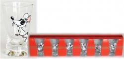 Sklenička VĚJÍŘEK 30ml dekor husa